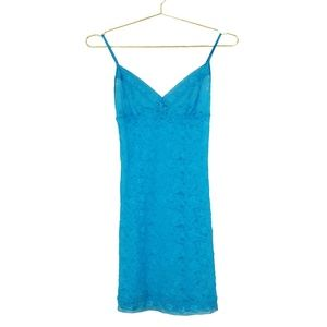 Victoria's Secret Aqua Stretch Lace Chemise